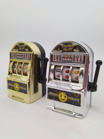 1 PC Lucky Jackpot Mini Slot Machine Antistress Toys Games for Children Kids Safe Machine Bank Replica Funny Gag Toys Christmas Gifts