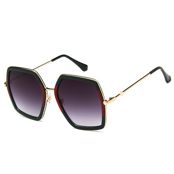 Women Patchwork UV400 Sunshade Sunglasses фото