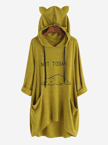 Kapuzenpullover mit Cartoon