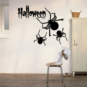 Halloween Carved Series of Spider Wall Stickers