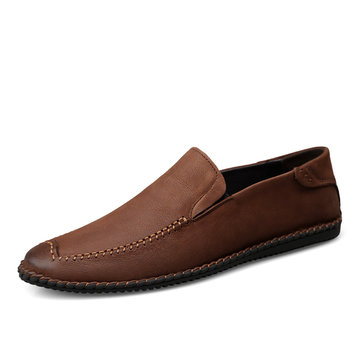 Large Size Men Cap Toe Slip On Casual Shoes