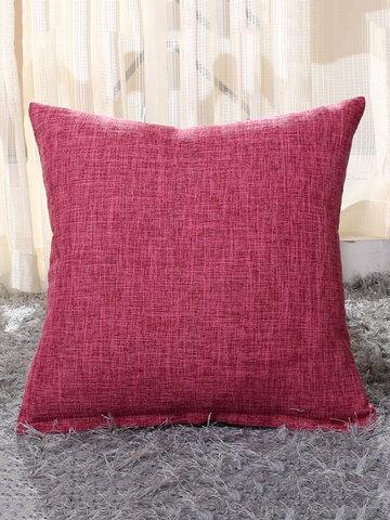 Solid Soft Cotton Linen Pillow Case