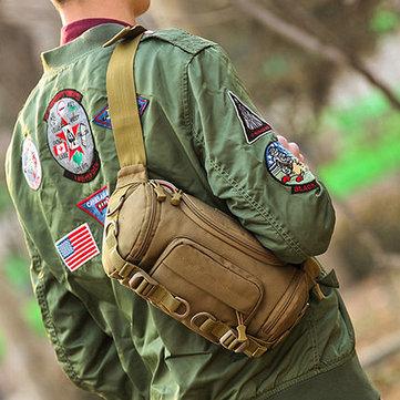 Outdoor Waterproof Tactical Sling Bag Chest Bag Waist Bag