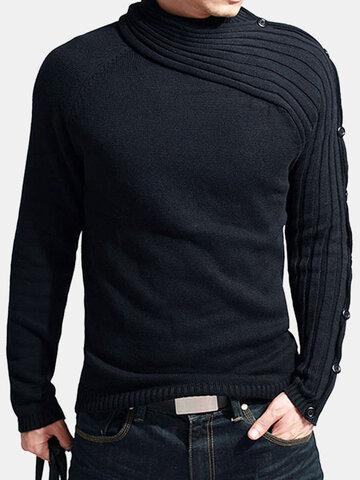 Sweater stylish slim en couleur pure