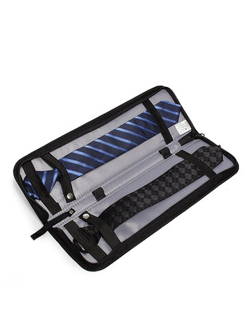Men's Travel Waterproof Nylon Tie Storage Box
