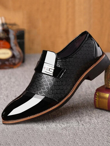 Large Size Men Cap Toe Dress Shoes