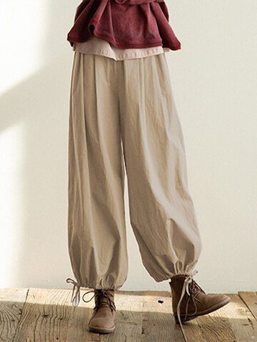 Casual Ankle-tied Cargo Pants