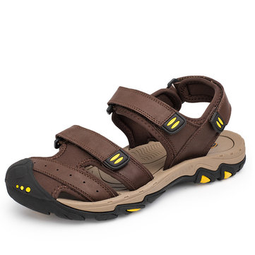 Men Leather Casual Outdoor Sandals фото