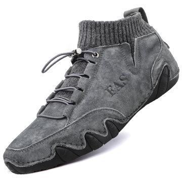 Men Handmade Sock Leather Boots