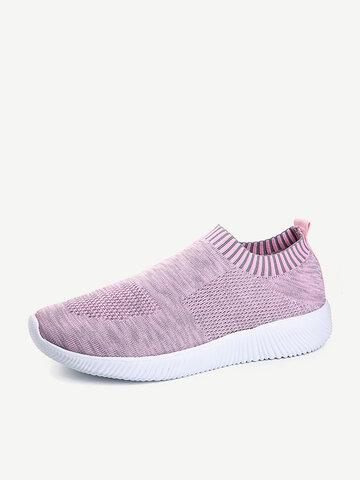 Chaussures confortables à enfiler en maille
