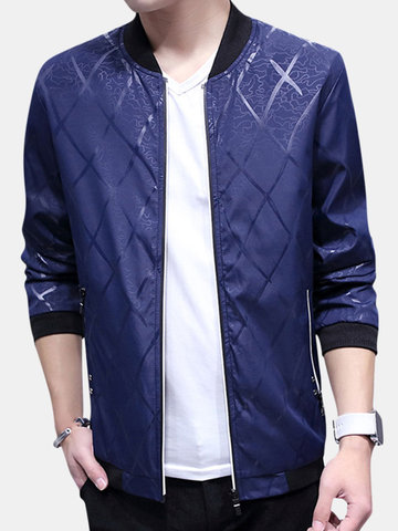 Printing Stand Collar Slim Jacket фото