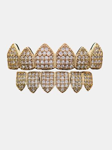 Gold-plated Diamond Braces