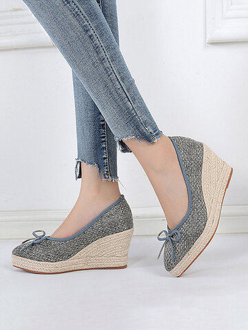 Pointed Toe Espadrille Loafers Schuhe