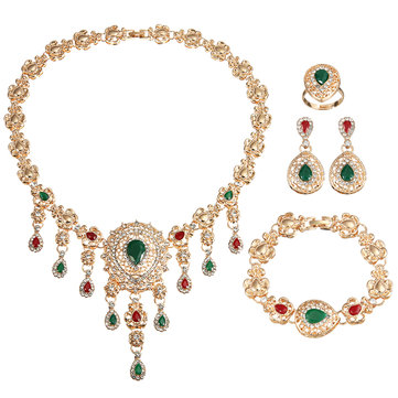 Women Gold Plated Jewelry Sets