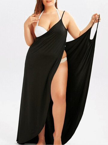 Solid Beach Shawl Cover Up
