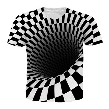 3D Abstract Pattern Loose T-Shirts