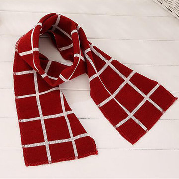 Grid Kid Knit Winter Scarf For 1-12 Years
