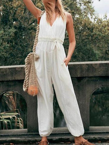 Casual Pockets Jumpsuit