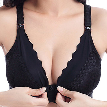 Front Button Wireless Gather Bras