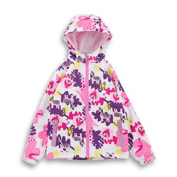 Capa de chuva floral das meninas para 4Y-13Y