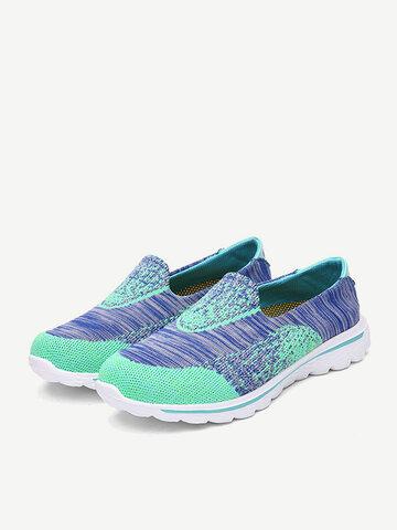 Color Match Slip On Comfy Lazy Flat Shoes