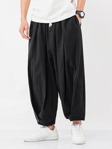 Cotton Solid Harem Pants