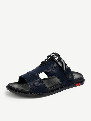 Men Microfiber Leather Breathable Casual Sandals
