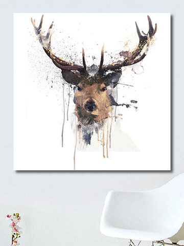 Abstract Elk Head Canvas Painting
