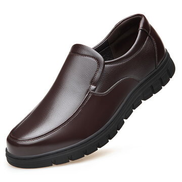 Men Microfiber Leather Slip On Casual Shoes