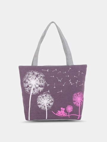 Calico Floral Pattern Printed Tote