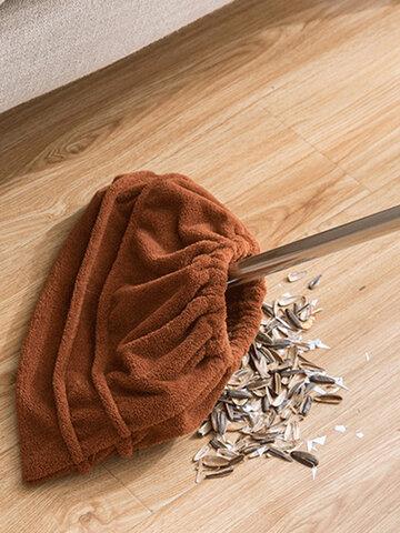 كنس وسحب منزلي كسول مجموعة من القماش اثنين في واحد لامتصاص الماء ومسح الأرضية لتنظيف الشعر وتنظيف غطاء المكنسة