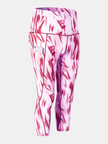 Tie-Dye Quick-Drying Sports Cropped Pants