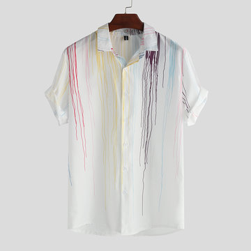 Mens Cool Printing Kurzarm Shirt