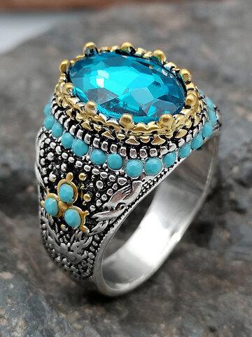 Zweifarbiger türkisfarbener Ring