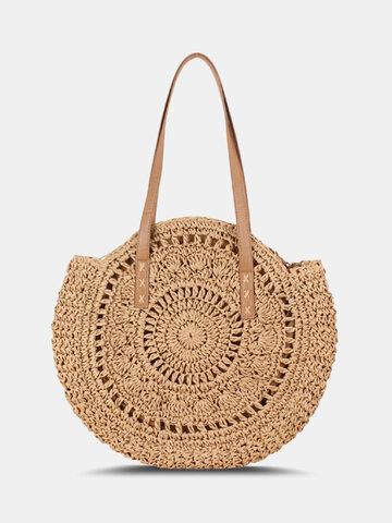 حقيبة سترو مخططة للنساء من Simplicity