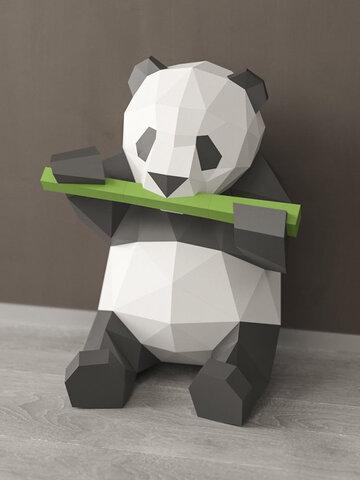 手作りDIYPanda食べる竹3Dペーパーモデル家の装飾リビングルームオフィスの装飾DIYペーパークラフトモデルパズル教育キッズおもちゃギフト