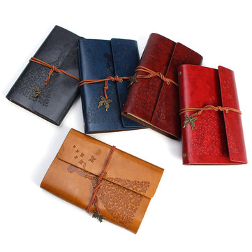 Genuine Leather Bound Travel Journal Handmade Notepad Vintage Style Loose Leaf Journal Notebook