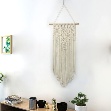 Bohemian Solid Color Handmade Macrame Wall Hanging Tapestry
