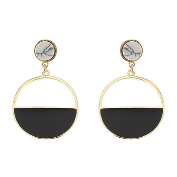JASSY® Black Semicircle Turquoise Earrings