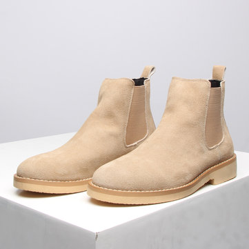 Men Suede Ankle Chelsea Boots