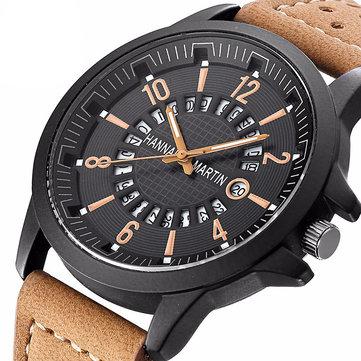 Relógio de quartzo de homens de marcação fosco na moda