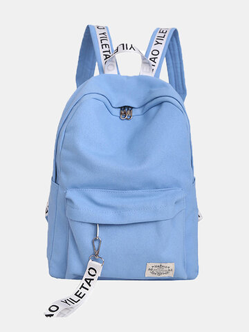 Canvas Brief Large Capacity Women's Backpack