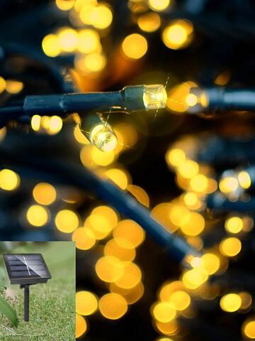 7M 50LED Solar Panel String Light Holiday
