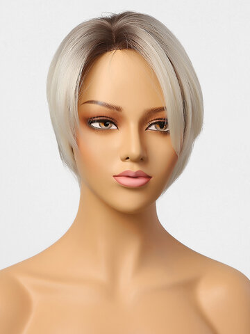 8 Inch Partial Lace Wig