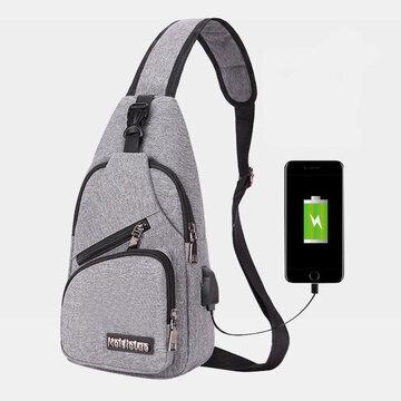 Oxford Outdoor USB Charging Sport Brusttasche Umhängetasche Schultertasche