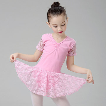 Lace Patch Girl Ballet Vestido para 2-11Y