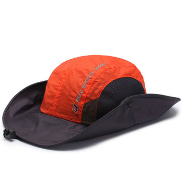 Anti-UV Foldable Breathable Bucket Fishing Hat With String