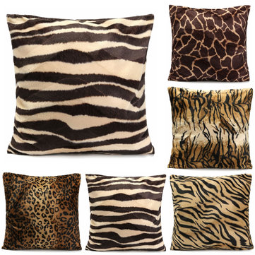 Leopard Tiger Zebra Animal Print Cushion Cover