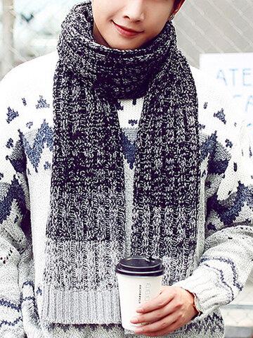 محبوك المرقعة سماكة أزياء دافئة التفاف الأوشحة شال