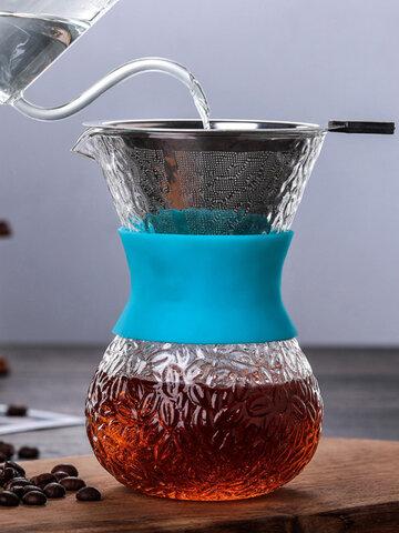 صانع القهوة الزجاجية